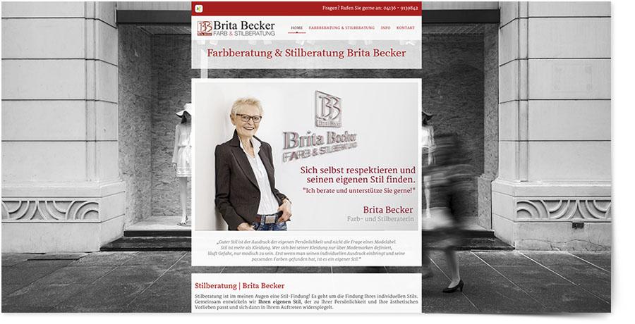 Internetseite der Farb- und Stilberatung Brita Becker in Lüneburg - Webdesign by DiBaDi - WebCreator, Fotograf Druck in Winsen, Lüneburg, Harburg und Hamburg, Agentur