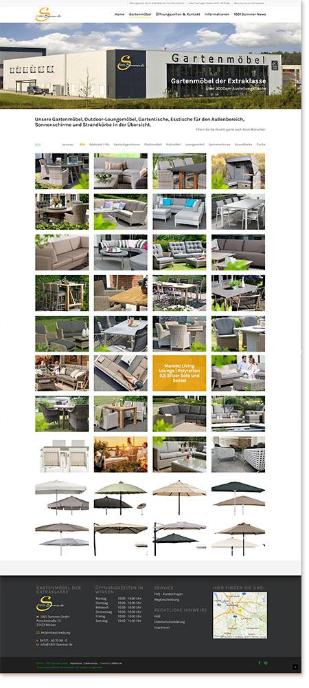 Internetseite Webdesign 1001 Sommer Winsen Gartenmöbel