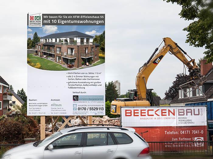 Bauunternehmen Bautafel Baustellenschild Winsen
