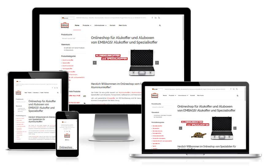Onlineshop für Aluminiumkoffer