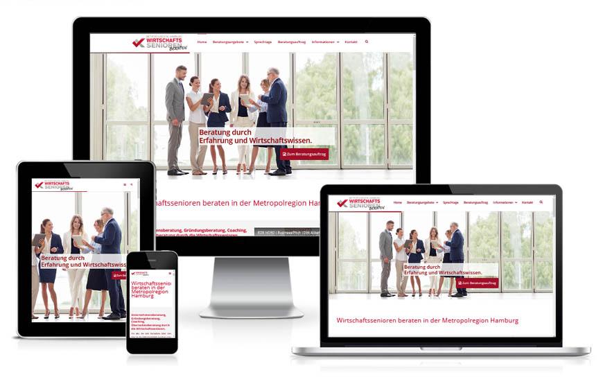 Internetseite Wirtschaftssenioren in Hamburg