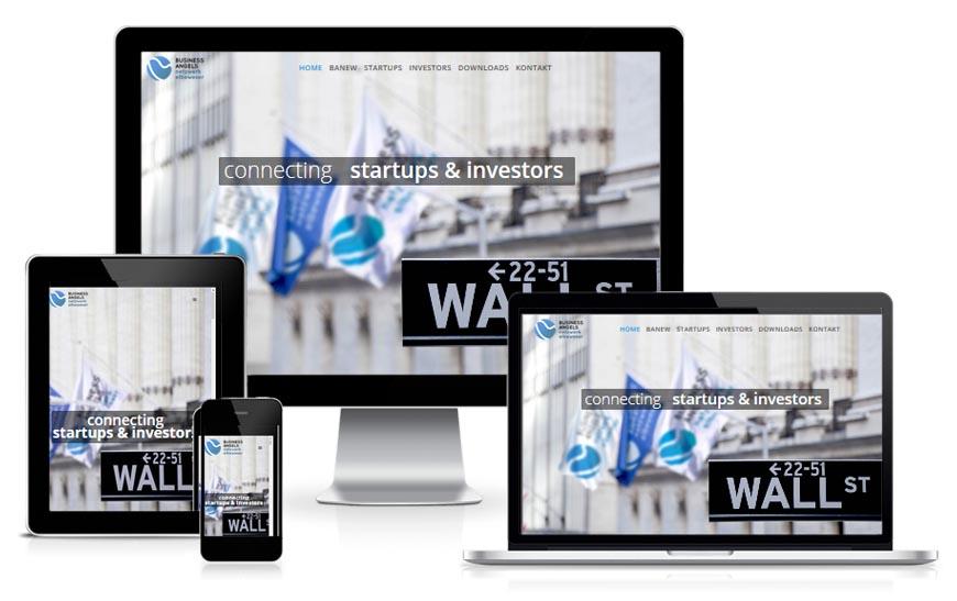 BANEW Internetseite - Business Angels Netzwerk Elbe Werser - Hamburg