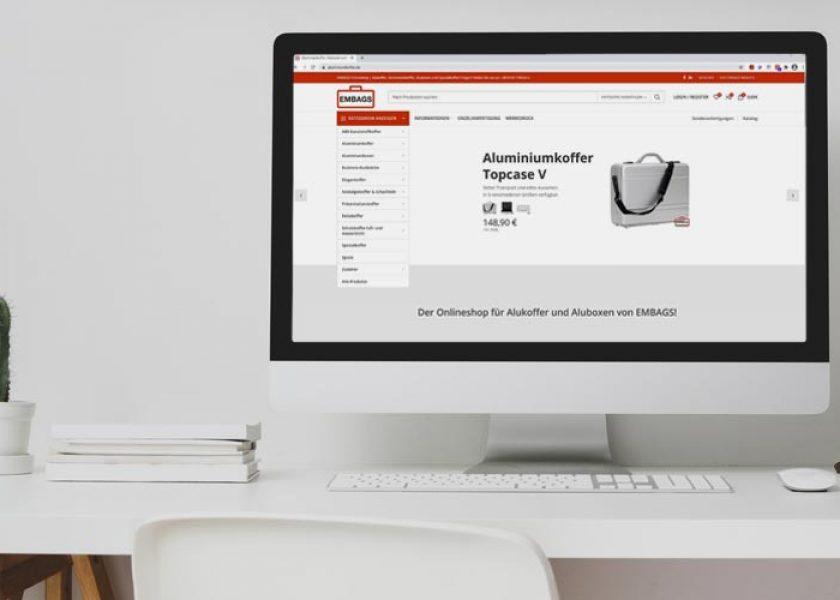 Onlineshop für Embags Aluminiumkoffer