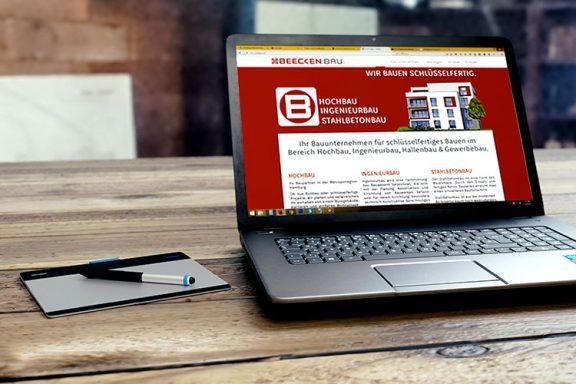 Internetseite für Beecken-Bau