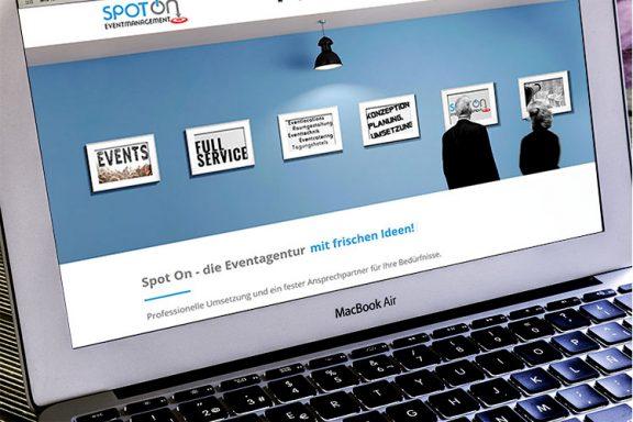 Internetseite für SpotOn Eventmanagement