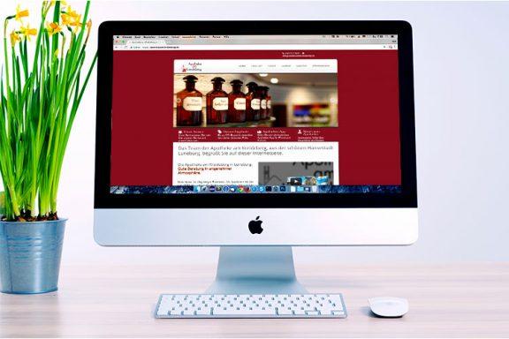 Internetseite für Apotheke am Kreideberg