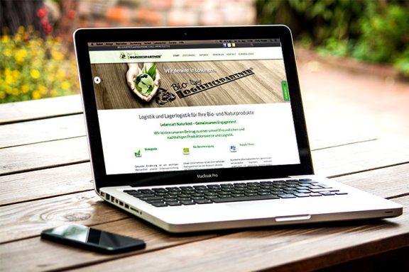 Internetseite für Bio Logisticspartner