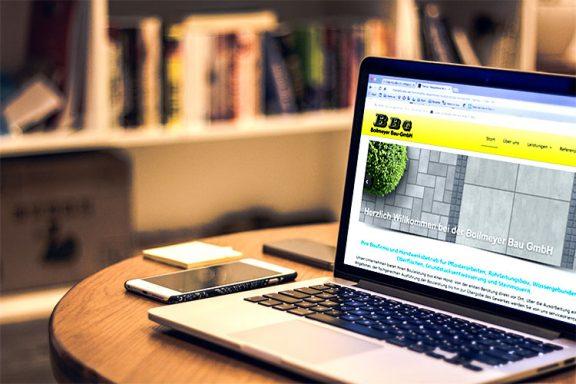 Internetseite für Bollmeyer Bau GmbH