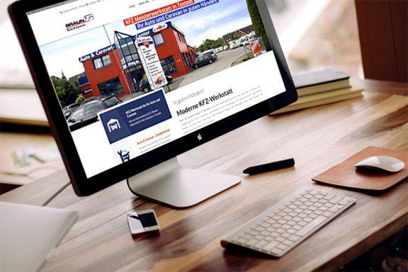Internetseite für Braun Tostedt Auto und Caravan