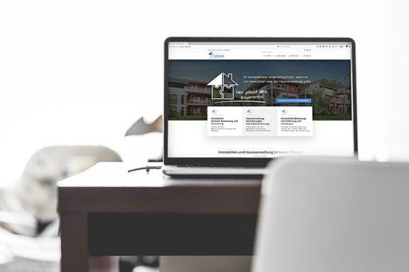 Internetseite für JOSCH Immobilien | Hausverwaltung und Immobilien