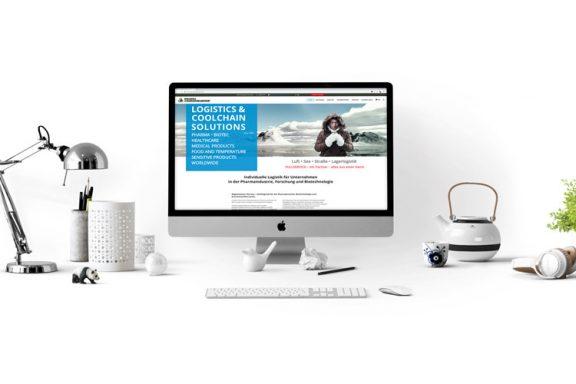 Internetseite für Logistikunternehmen in der Pharmabranche