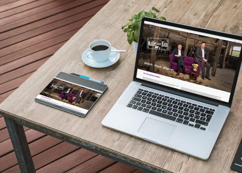 Internetseite für Immobilienmakler