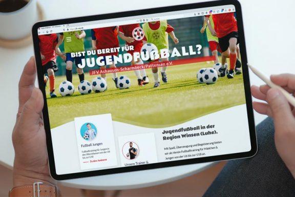 Internetseite Jugend-Fußballverein