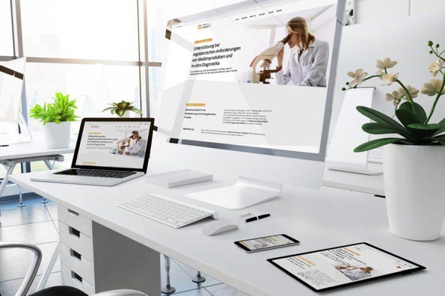 Internetseite für ivd.expert