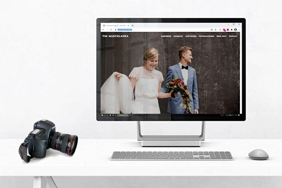 Internetseite für Hochzeitsfotograf